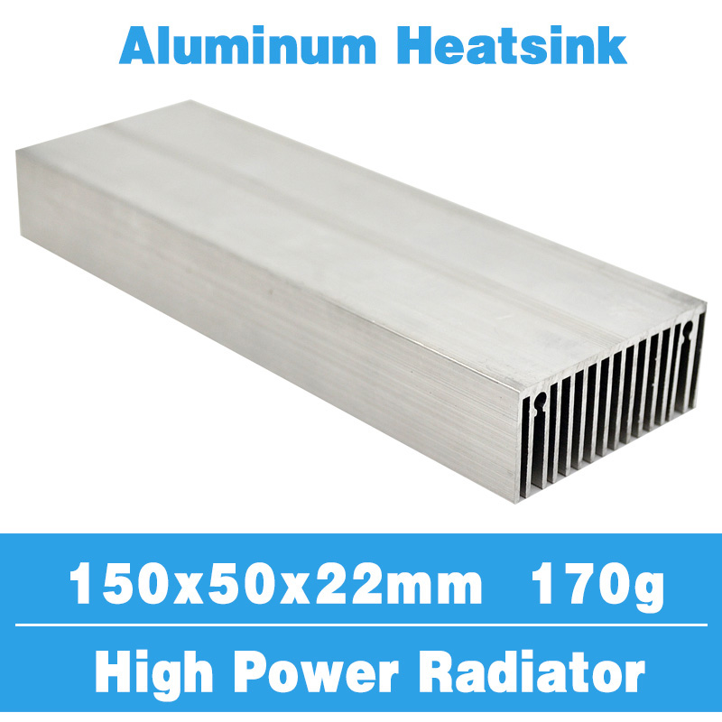 цена 150x50 Radiator Heatsink Aluminum Heat Sink Cooling Cooler Fit LED Transistor IC Module Power PBC Heat Dissipation for LED chip