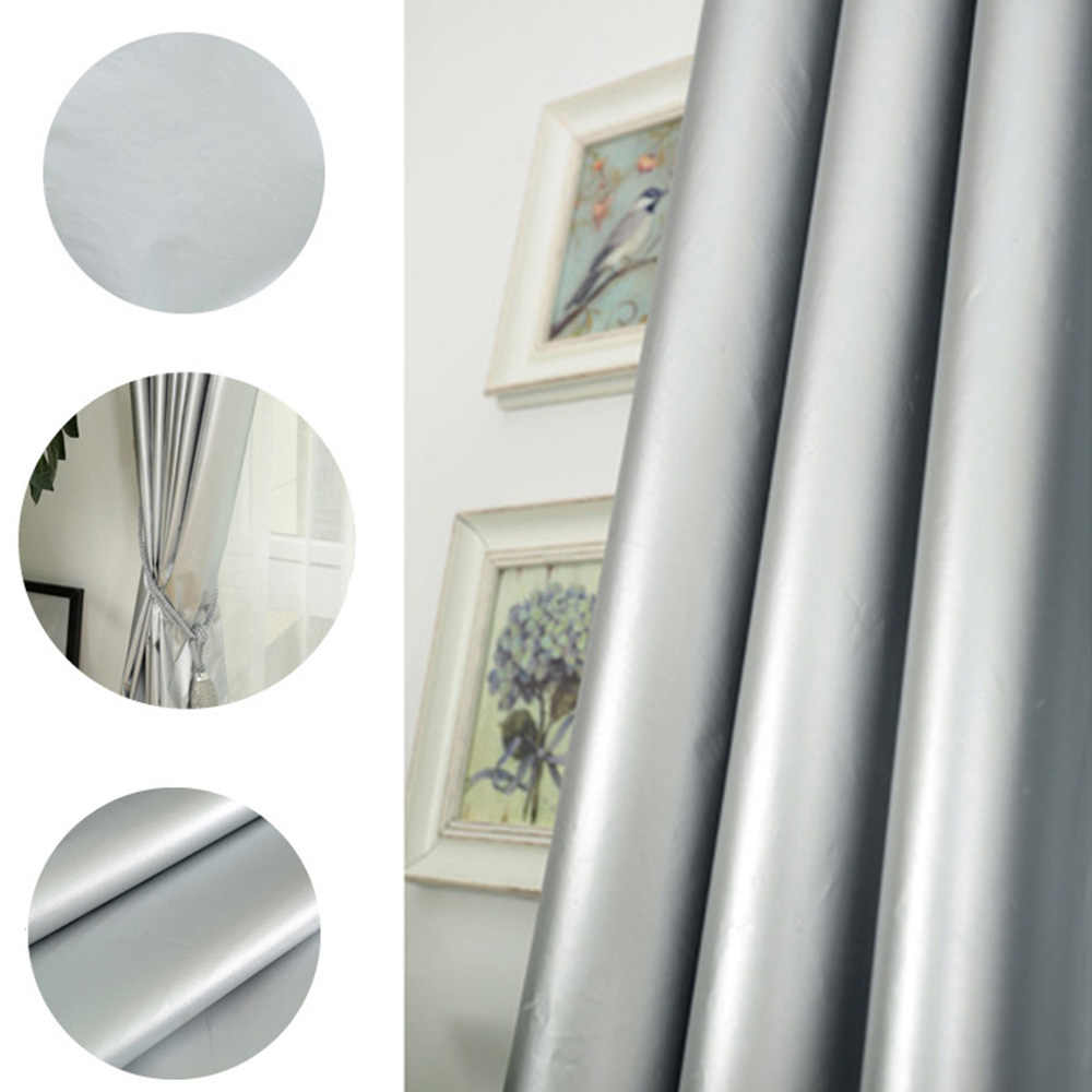 Home Blockout Curtain Wide Thick Curtain Decorative Drapes For