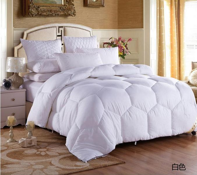 top quality winter goose down blanket comforter winter summer quilts king feather comforter