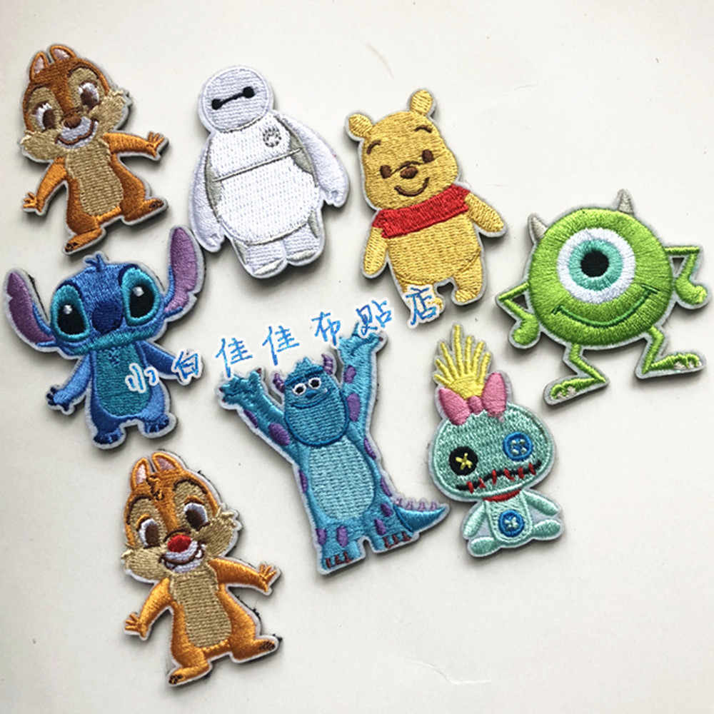 Ijzer op Cartoon Patroon Kleding Patches Badges Mode Borduren Pailletten Kleding Kledingstuk Tassen T-shirt DIY
