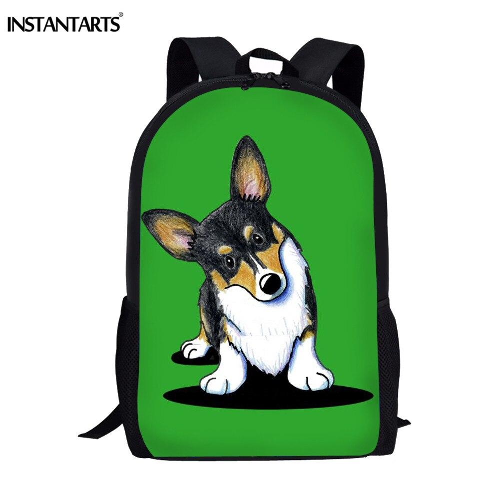 Instantart Saint Bernard Terrier 3d Prints Rugzak Voor Kid Terug Naar School 16 Inch Canvas Student Brand Design Bookbags Satchel