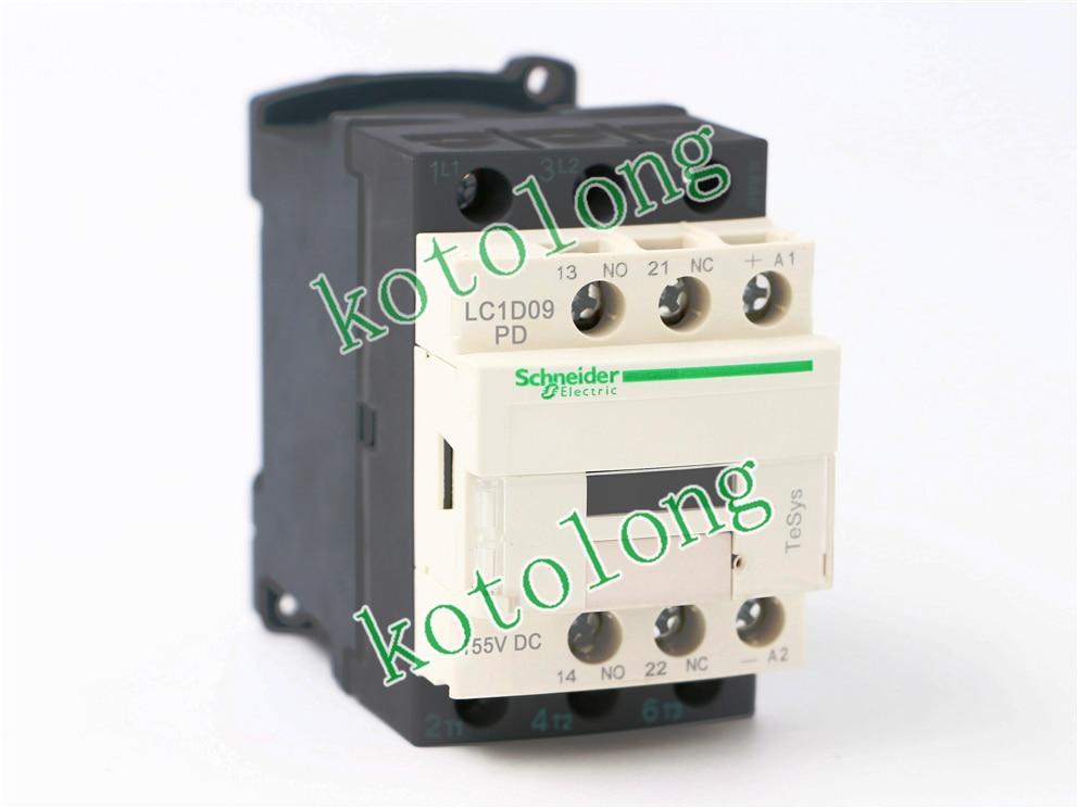 DC Contactor LC1D09PD LC1-D09PD 155VDC LC1D09QD LC-D09QD 174VDC LC1D09SD LC1-D09SD 72VDC LC1D09UD LC1-D09UD 250VDC new lp2k series contactor lp2k06015 lp2k06015md lp2 k06015md 220v dc