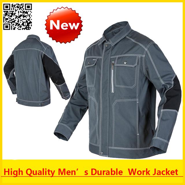 Homens de alta qualidade ao ar livre workwear multi-bolsos do revestimento de trabalho construção mecânico artesão builder workwear frete grátis