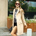 Veri Gude Women's Woolen Long Coat for Winter Flat Collar Double Breasted Straight Style