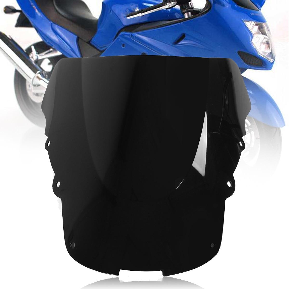 Motorcycle Double Bubble WindScreen Windshield Wind Deflectors Motorbike screen Airflow For Honda CBR1100XX CBR 1100XX 1996-2007 Blue