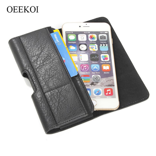 US $8 99 10% OFF|OEEKOI Stone Pattern PU Leather Waist Bag Belt lip Pocket  Pouc600/h Phone Holster Case for Pantech Vega Iron 2/Iron/R3-in Holsters &