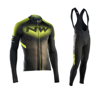 2017 Pro NW Team Cycling Jersey Quick Dry Long Sleeve Jerseys And Cycling Bib Pants Set Cycling Clothes Breathable 3 Color