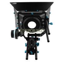 Fotga swing-away matte box + qr siga foco a/b paradas duras + 15mm haste placa de base dslr rig