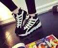 Otoño/invierno 2016 mujeres zapatillas y zapatos de algodón zapatos de plataforma alta para ayudar a los estudiantes de las mujeres zapatos casuales