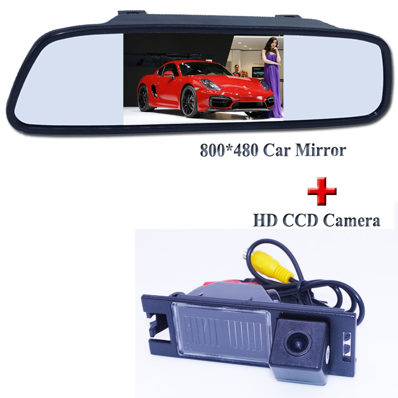 FOR Hyundai ix35 2010/2012 car rear reversing camera + lcd car parking mirror bring 4.3 hs screen hot selling 2016