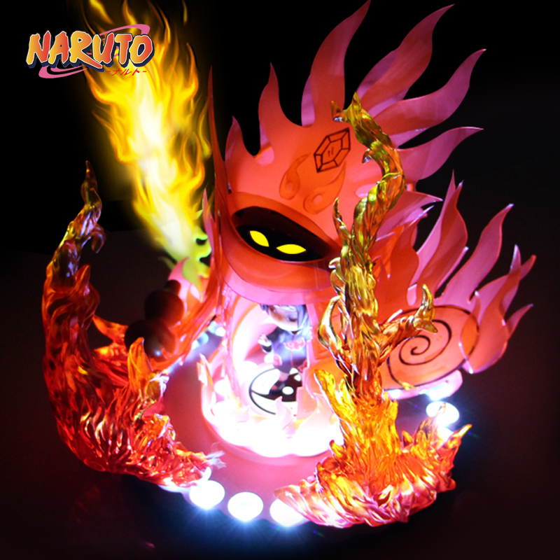 MODEL FANS IN-STOCK NARUTO 13cm q version Uchiha Itachi Susanoo Tempestuous God of Valour GK TPU made contain led light figure pu short wallet w colorful printing of naruto shippuden uchiha itachi