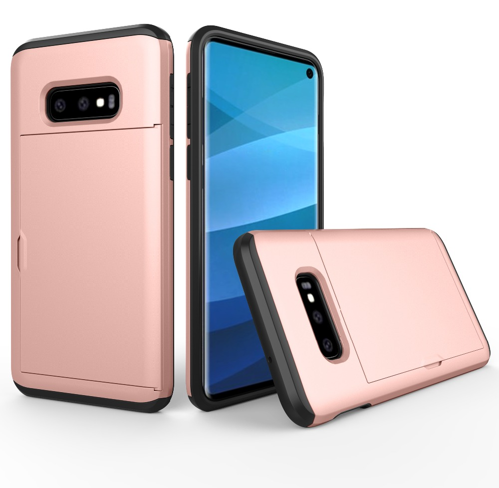 For Samsung Galaxy S10 E Case Slide Armor Wallet Card Slot Holder Cover For Samsung S8 S9 S10 Plus Note 9 Case For J3 J5 2016