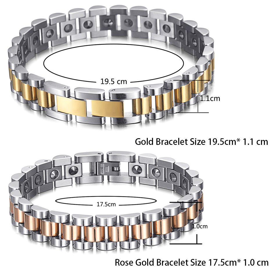 Image 3 - RainSo 99.999% Pure Germanium Bracelet for Women Korea Popular Stainless Steel Health Magnetic Germanium Energy Power Jewelry-in Charm Bracelets from Jewelry & Accessories