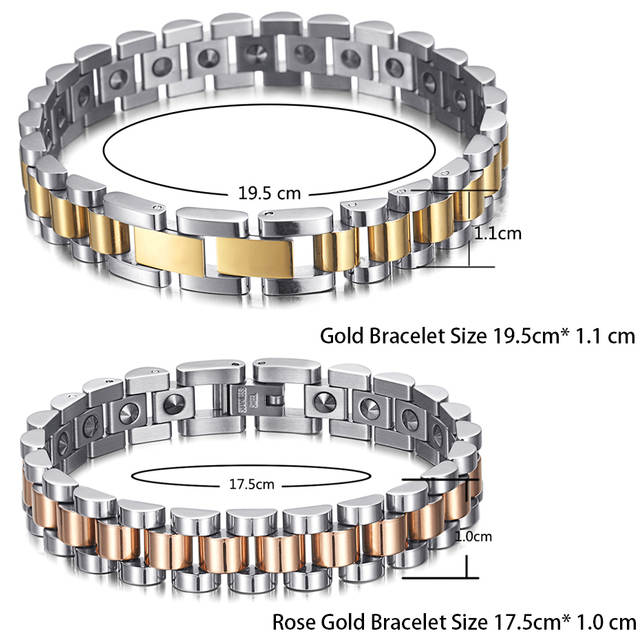 b1aa47023c48c US $21.52 40% OFF|RainSo 99.999% Pure Germanium Bracelet for Women Korea  Popular Stainless Steel Health Magnetic Germanium Energy Power Jewelry-in  ...