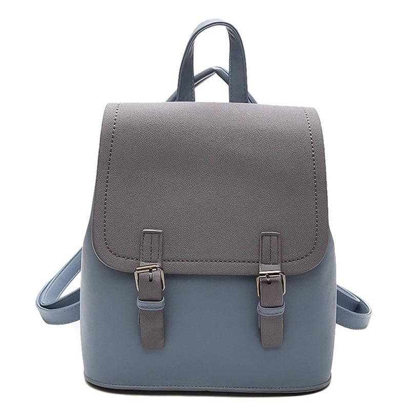 738b1577c548 2018 Fashion Backpack Women Scrub PU Leather School Bag Travel Backpack  Cute High Quality Female Backpacks For Adolescent Girls-in Backpacks from  Luggage ...