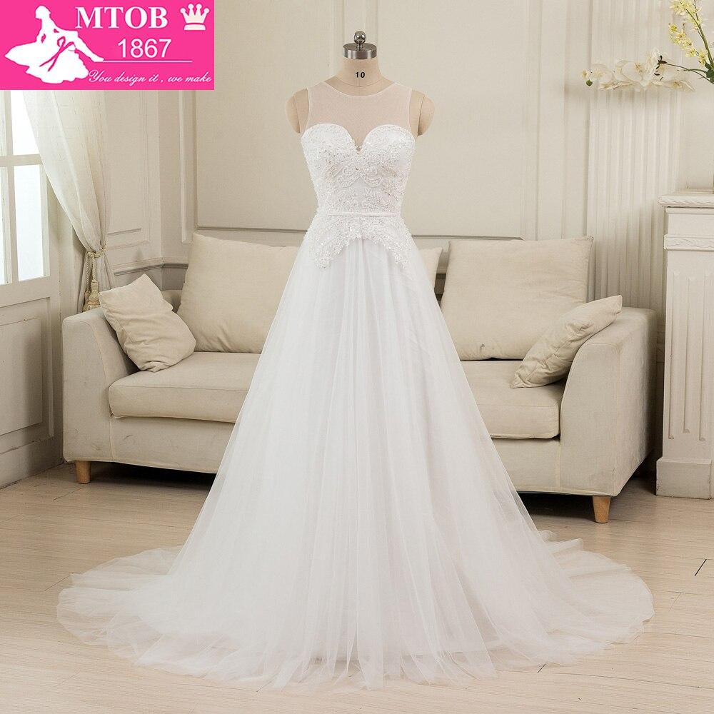Vestido De Noiva Renda Vintage Lace Princess Wedding Dress: Vestido De Noiva De Renda 2016 A Line Sheer Lace Vintage