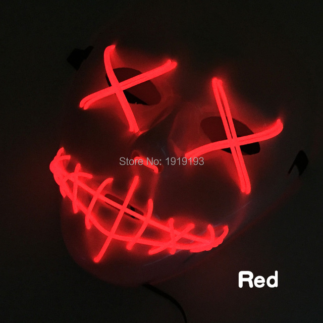 christmas decor 3v cold light scar variant monster mask event party supplies led strip music activated