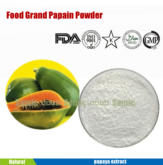 100% natural papaya extract 50g food grade Papain powder carica extract enzyme for Dietary Supplement and meat tenderizer