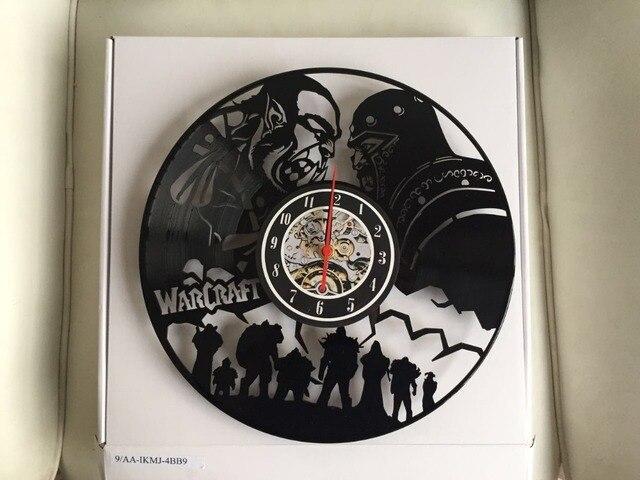 World of Warcraft WOW Gift Vinyl Wall Clock Vintage Decor Demon Illidan Figure,wall clock  saat alarm clock reloj large 5