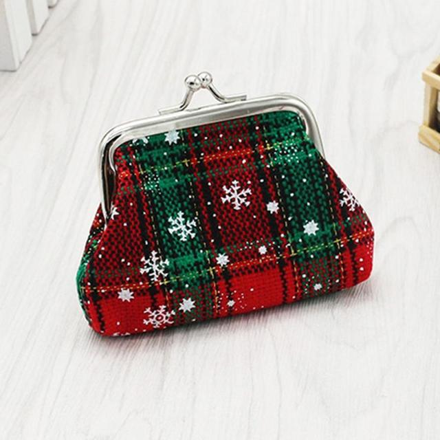 2970678a7648 Amazing Womens Christmas Small Wallet Holder Coin purses Clutch Handbag Bag  monederos mujer monedas bolsa feminina