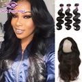 Pre Plucked 360 Frontal With Bundles Brazilian Human Hair With Lace Frontal Closure And Bundles Brazilian Virgin Hair Body Wave