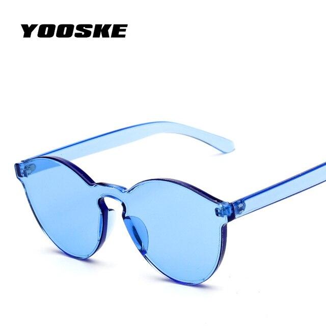 eae8a38aaddbd YOOSKE couleur bonbon chat yeux lunettes femmes Cool en plastique UV400  luxe lunettes de soleil personnalité