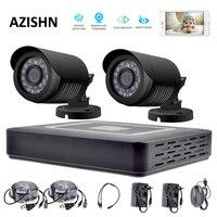HD 4CH CCTV System 1080P HDMI AHD DVR 2PCS 720P 1080P AHD Cameras CCTV IR