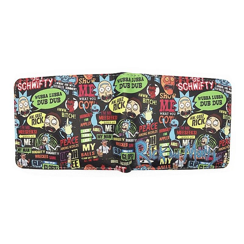 MeanCat Wholesale 10st / lot Anime Cartoon Rick och Morty Folded - Plånböcker - Foto 2