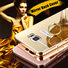 For samsung galaxy Note 2 Note 3 Note 4 Note 5/ New Luxury Elegant High Quality Metal Aluminum Case Acrylic Mirror Back Cover