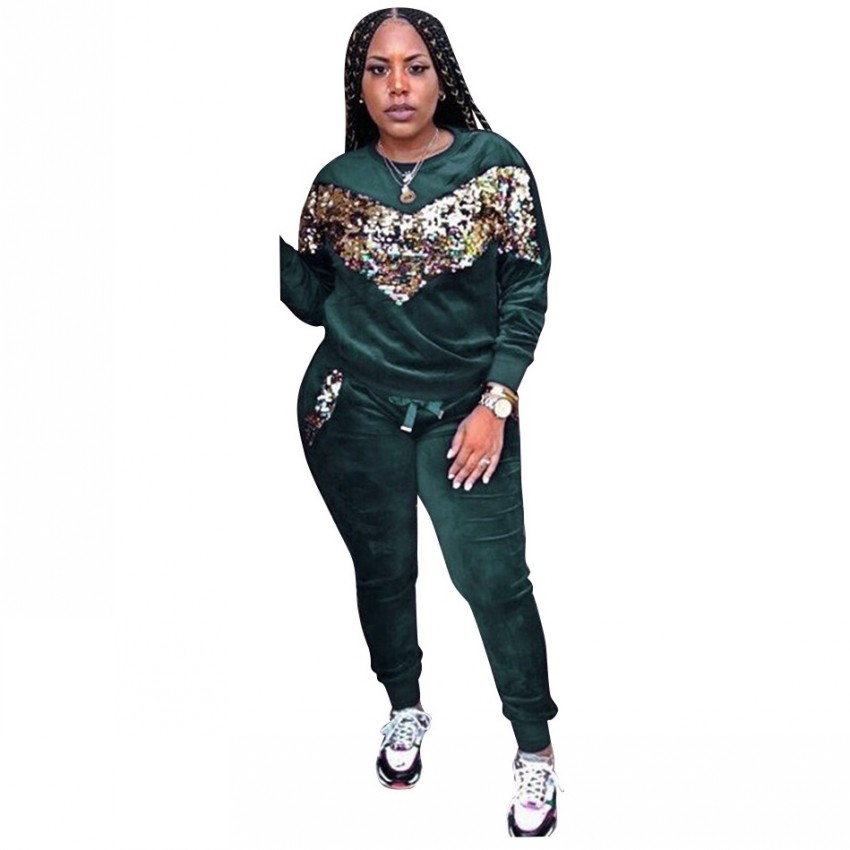 African Sets For Women Velvet Sequin 2 Piece Set Tops And Pant African Elastic Bazin Baggy Rock Style Dashiki  Africa Clothing