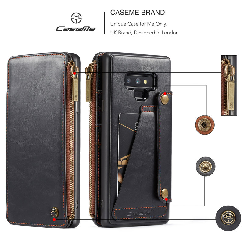 the latest d8499 42b4f US $9.99 30% OFF|Note9 Case For Samsung Galaxy Note 9 Leather Case Card  Holder Stand Book Flip Cover For Galaxy Samsung Note 9 Wallet Case etui -in  ...