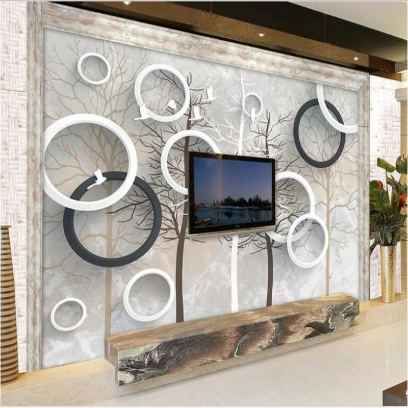 Can Be Customized Large Scale Mural 3d Wallpaper Wall: Scale Mural 3D Relief Marble