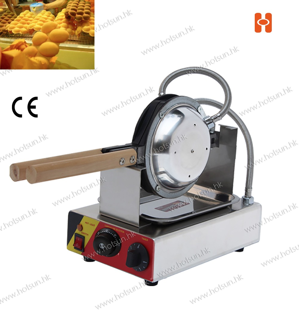 110V 220V Electric Non-stick Hongkong Eggettes Egg Puff Bubble Waffle Egg waffle Maker-Rotated 180 Degree
