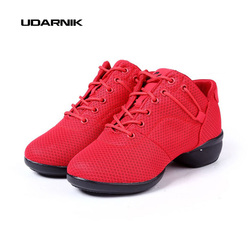 Womens red black jazz hip pop dancing shoes mesh upper soft footwear sports training sneake new.jpg 250x250