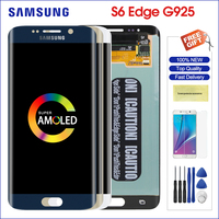 amoled samsung galaxy s6 edge g925 g925f g925i touch screen phone LED digitizer assembly g925 display replacement