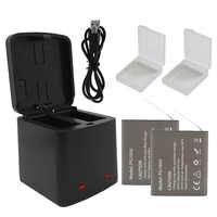 Double chargeur de batterie de stockage et batterie de caméra 1050mAh PG1050 pour batterie EKEN H9 H9R H8R H5S H6S SJCAM SJ4000 SJ5000 5000X