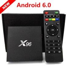 ใหม่ล่าสุดX96 Android 6.0ทีวีกล่อง1กรัม/8กรัม2กรัม/16กรัมAmlogic S905X Quad Core KDi 16.1เต็มเต็มไป4พันWiFi HD 1080i/Pสมาร์ทสื่อเครื่องเล่น
