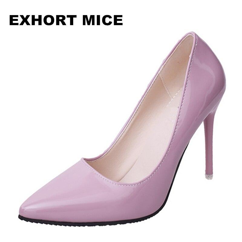 2017 font b Women b font Pumps Spring Autumn High heels Pointed Toe Female Wedding font