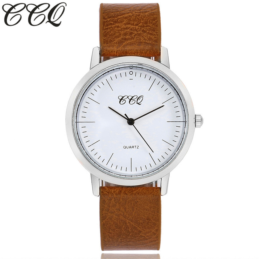 CCQ Brand New Fashion Women Wristwatches Casual Leather Simple Face Quartz Watch Gift Clock Relogio Feminino 2017 new fashion tai chi cat watch casual leather women wristwatches quartz watch relogio feminino gift drop shipping