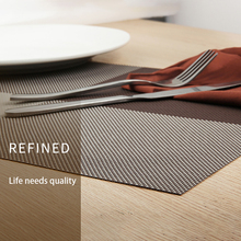 ONEUP 4pcs/lot Europe Style Placemat waterproof Decoration mat Heat-Resistant Tablemat Dishes Coaster Tableware Mat For Table