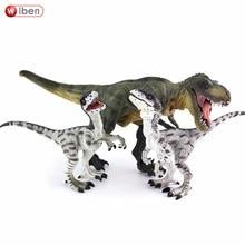 Wiben Jurassic Tyrannosaurus Rex Velociraptor  Dinosaur Toys Animal Action Figure Collectible Model Toy for Boys