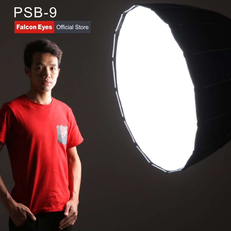 Falcon Eyes Foldable Parabolic Soft Box 90cm Dome Hexadecagon(16 sides) Softbox Reflector for Photo Studio Flash Speedlite PSB 9