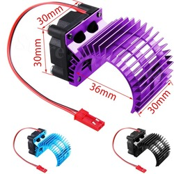 Brushless Motor Heatsink with Cooling Fan RS540 550 540 3650 Size DC 5V Electric Engine Heat Sink For 1/10 RC Model Car Baja