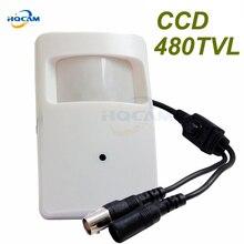 Hqcam Sony CCD 480TVL pir детектор движения мини Камера видео Цвет Мониторы безопасности Цвет 1/3 дюйма CCD 480TVL 3.6 мм