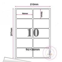 Retail Matte White Round Corner Self Adhesive A4 Kraft Paper Sticker Square Label Printing Copy Paper