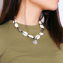 Puka Natural Shell gold cowrie necklace women best friend cowry seashell bijoux collier femme bohemian jewellry