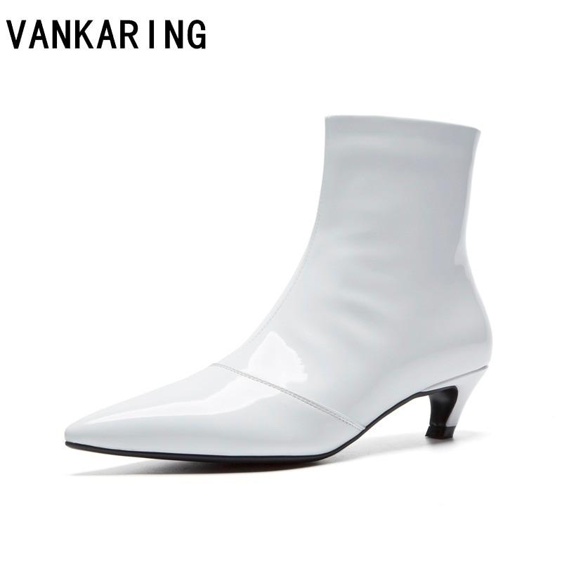Genuino Quadrato Alto Invernali Del Scarpe Nero Bianco Donna