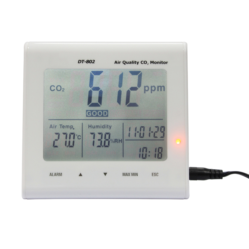 Hygrometer Indoor Air Quality Monitor CO2 9999ppm Temperature 5C 50C Humidity 3in1 AC110 220V Detector Tester