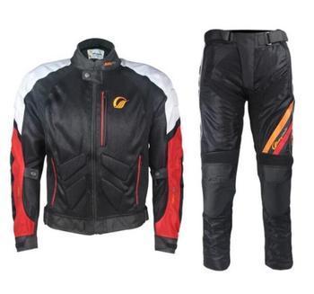 Jazda jazda motocyklem garnitur Tribe wiosna lato jesień z wyposażeniem ochronnym anty-odprowadzający wilgoć rowerzysta wyścigowy odzież dla mężczyzn i kobiet tanie i dobre opinie Spodnie Poliestru i nylonu Mężczyźni Breathable anti-fall wear SUWDT