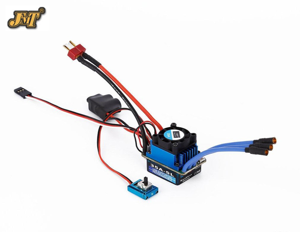 JMT 25A 35A 60A 120A SL Brushless/brushed Speed Controller ESC for 1/12 1/16 1/18 1/10 1/8 RC Car Truck Racing Car free shipping rc model part racing 35a 60a brushless esc brushless electric speed controller for 1 12 1 10 1 16 rc car truck